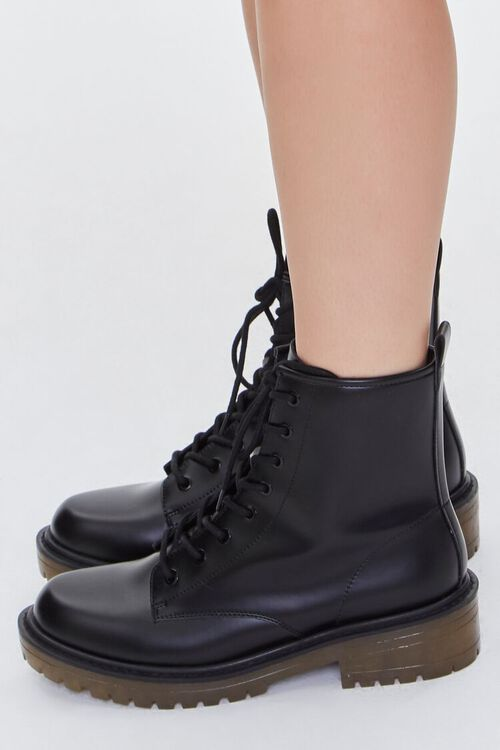 Faux Leather Zip-Up Booties, image 2
