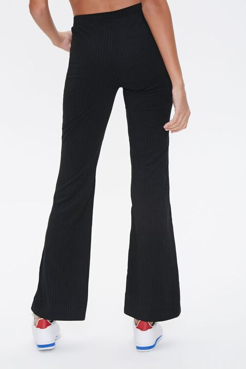 Ribbed Knit Flare Pants, image 4