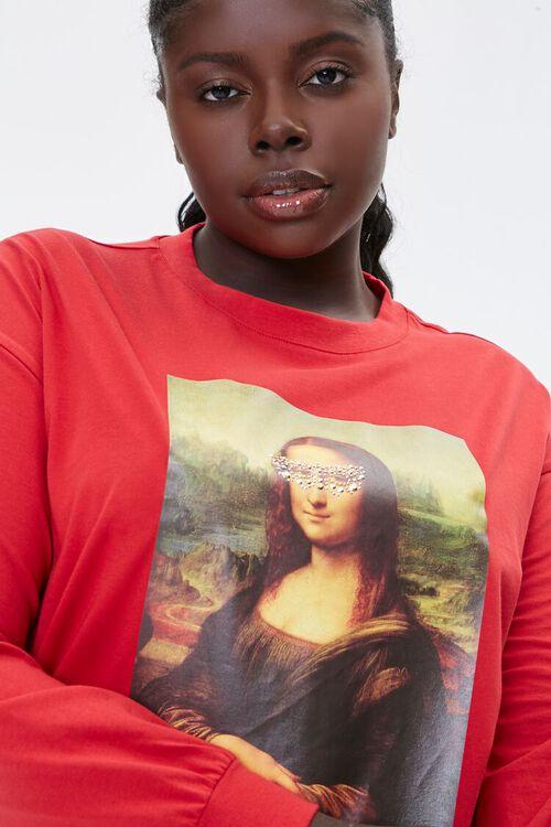 Plus Size Mona Lisa Long-Sleeve Tee, image 1