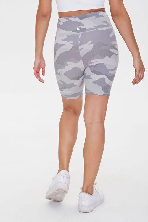 GREY/MULTI Active Camo Print Biker Shorts, image 4