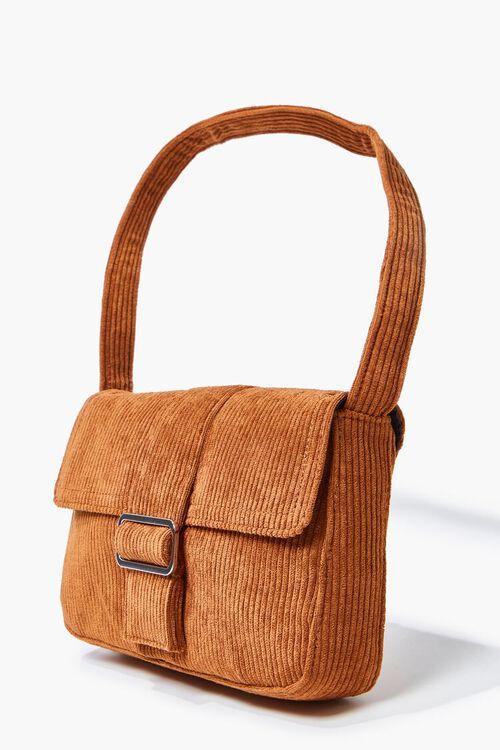 BROWN Corduroy Shoulder Bag, image 2