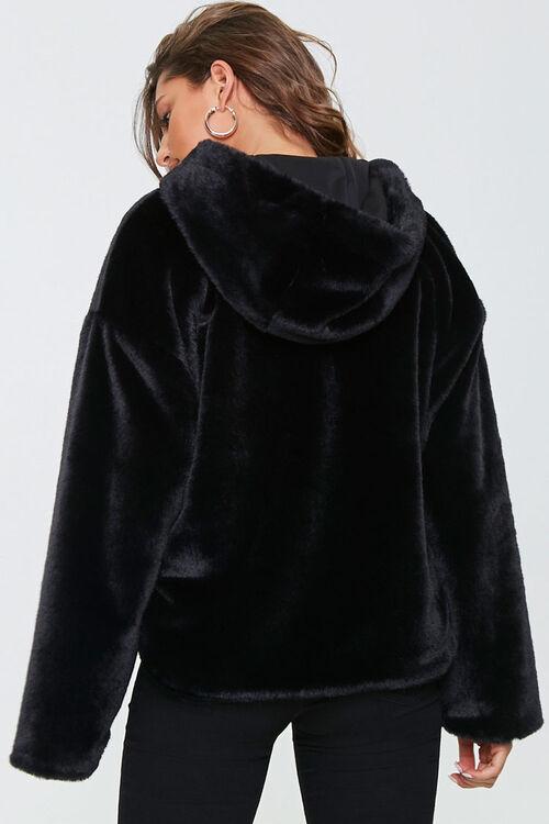 Plush Faux Fur Zip-Up Hoodie, image 3
