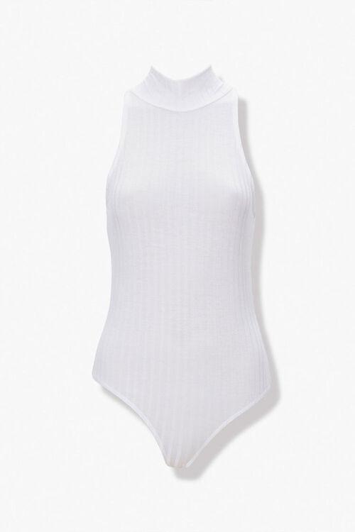 Ribbed Mock Neck Bodysuit, image 1