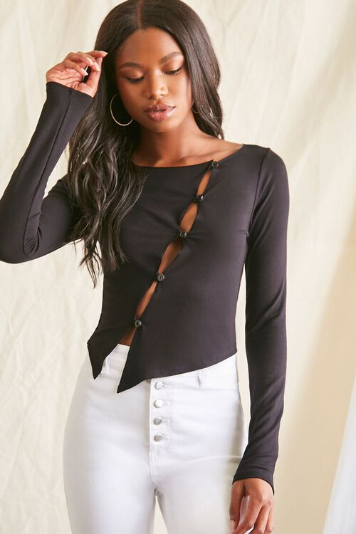 Asymmetrical Buttoned Top, image 5