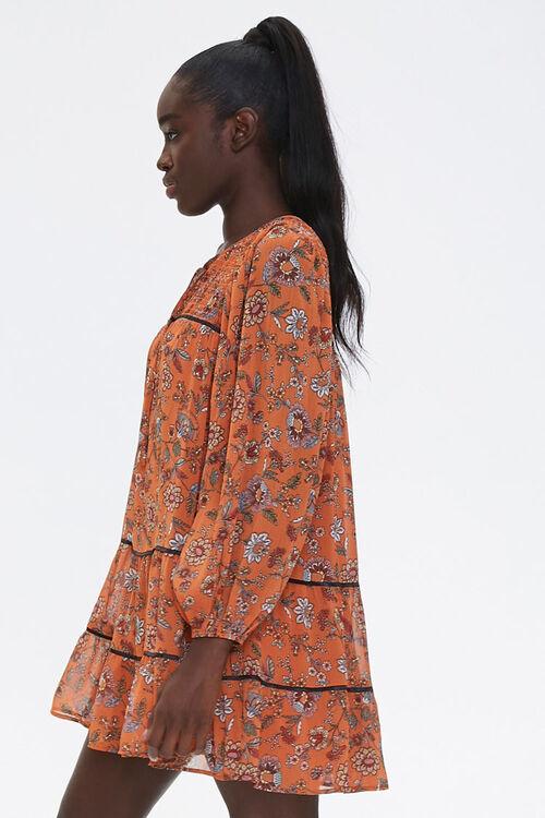 Floral Print Peasant Dress, image 2