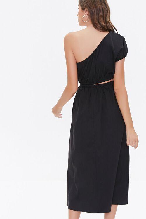 BLACK One-Shoulder Cutout Dress, image 3