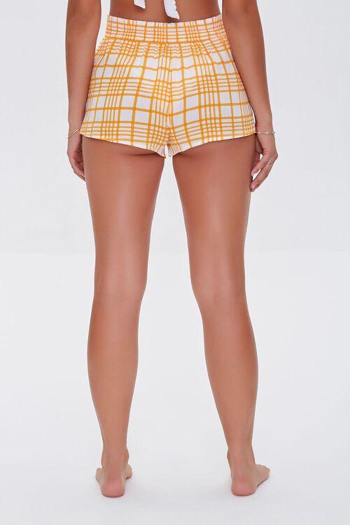 Plaid Swim Cover-Up Shorts, image 4