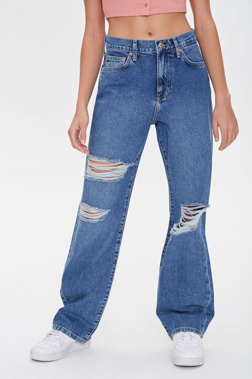 Distressed Straight-Leg Jeans, image 2