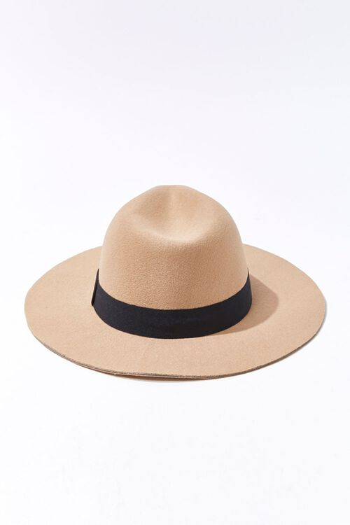 Faux Suede Contrast-Trim Fedora, image 3