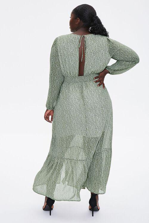 Plus Size Floral Peasant Maxi Dress, image 3