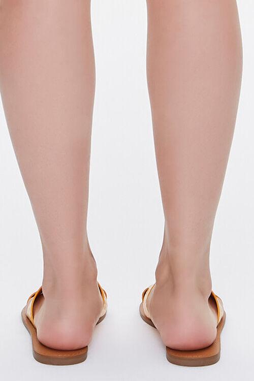 Faux Croc Leather Cutout Sandals, image 3