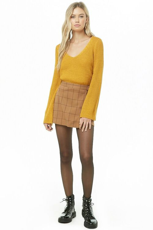 Ribbed Bell-Sleeve Sweater, image 4