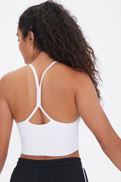 WHITE Seamless Cutout Sports Bra, image 1