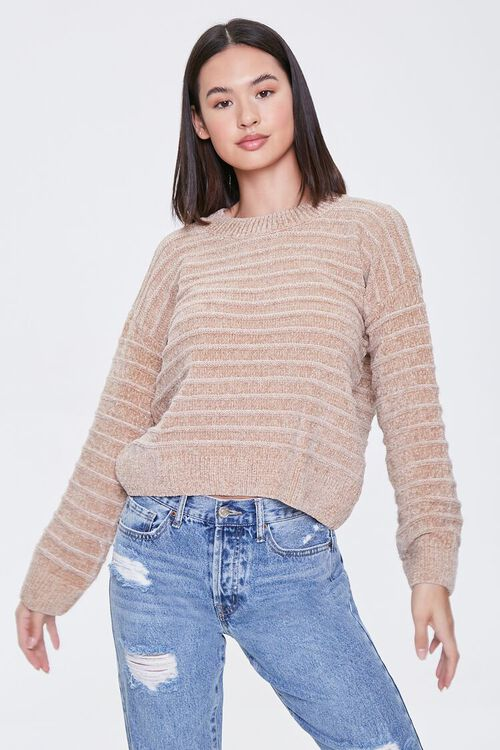 Chenille Ribbed Sweater, image 2