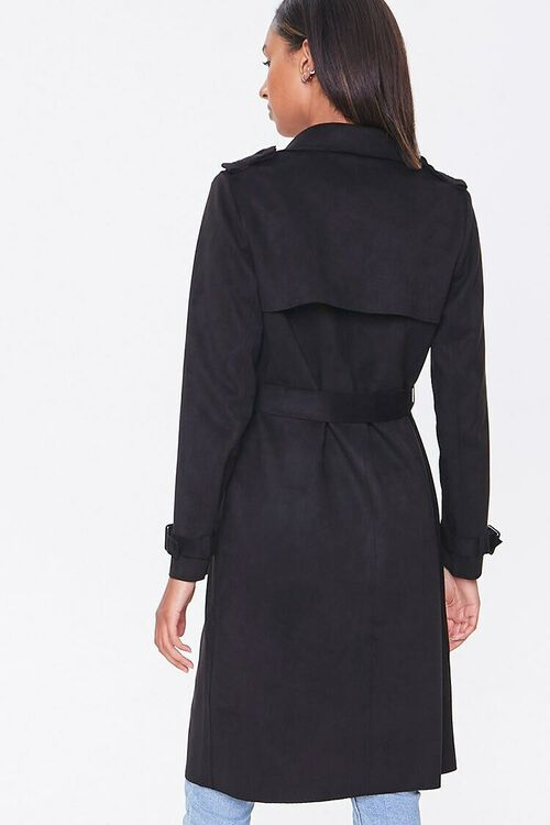 Faux Suede Duster Jacket, image 3