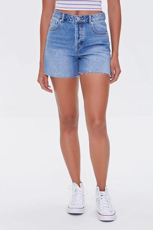 MEDIUM DENIM Raw-Cut Denim Shorts, image 2
