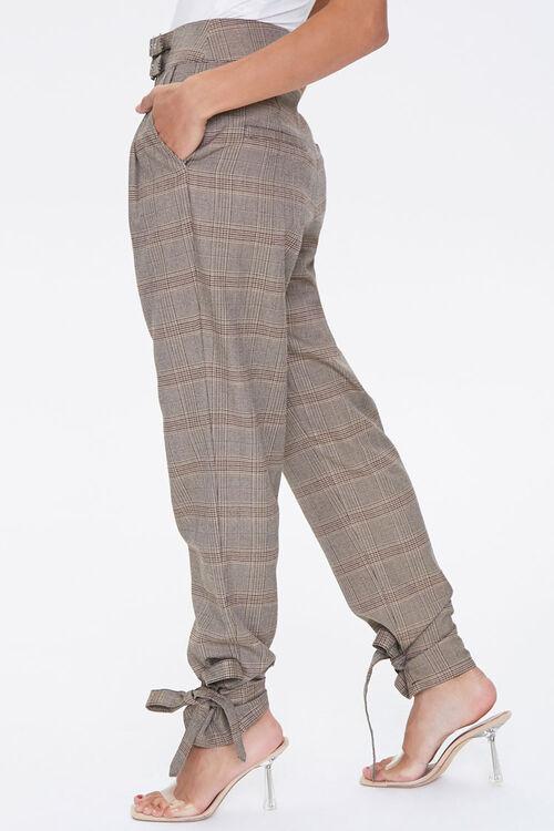 Plaid Ankle-Tie Pants, image 3