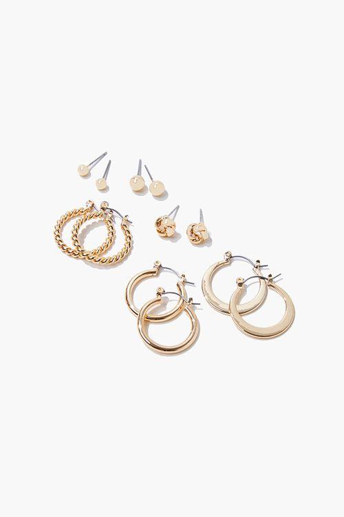 Upcycled Hoop & Stud Earring Set, image 1