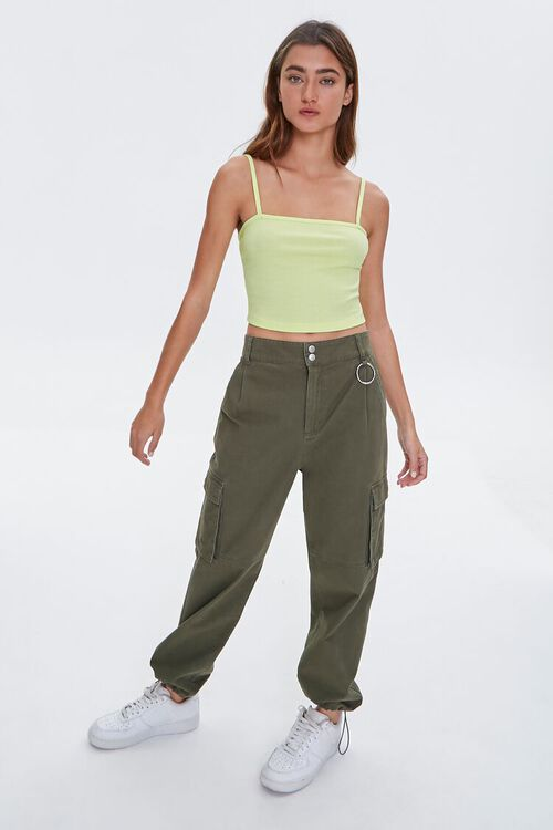 Ribbed Knit Cropped Cami, image 4