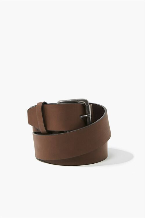 Men Faux Leather Belt, image 1