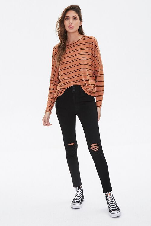 Striped Drop-Sleeve Top, image 4