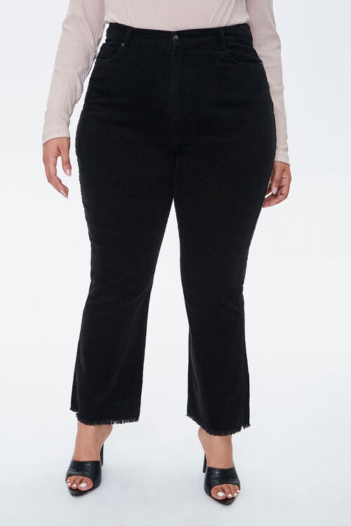 Plus Size Frayed Ankle Pants, image 2