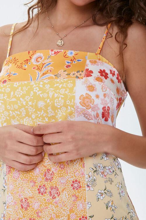 Floral Vented-Hem Satin Dress, image 5