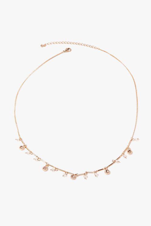 Rhinestone Charm Necklace, image 3
