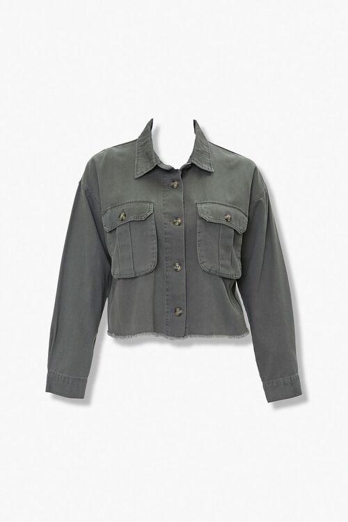 Plus Size Frayed-Trim Jacket, image 1