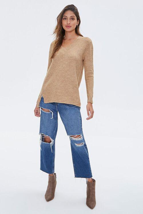 Marled V-Neck Sweater, image 4