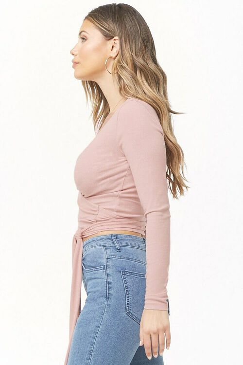 Ribbed Wrap Top, image 2