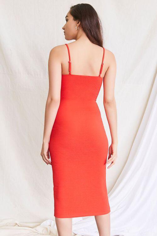 RED Cami Bodycon Midi Dress, image 3