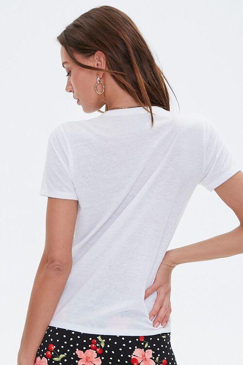 WHITE Basic Slub Knit Tee, image 3