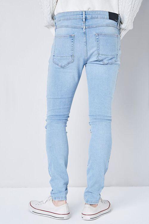 LIGHT DENIM Premium Distressed Skinny Jeans, image 4