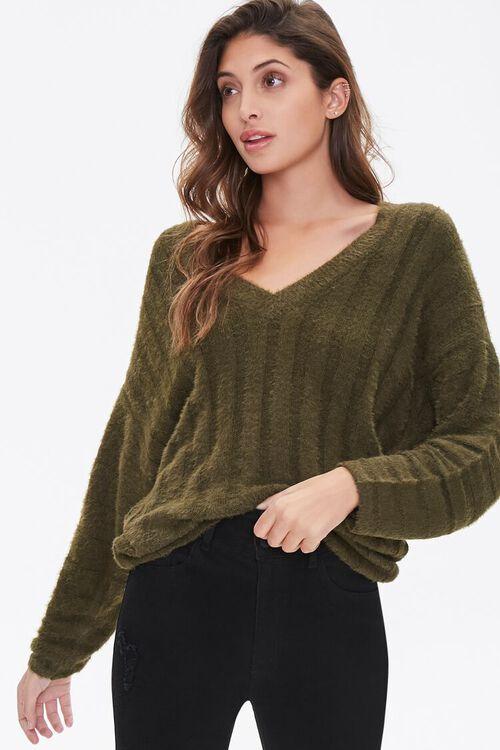 Fuzzy Knit Sweater, image 1