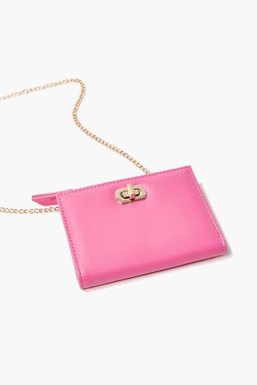 PINK Faux Leather Twist-Lock Coin Purse, image 1