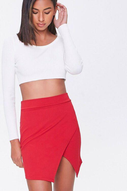 Tulip-Hem Mini Skirt, image 1