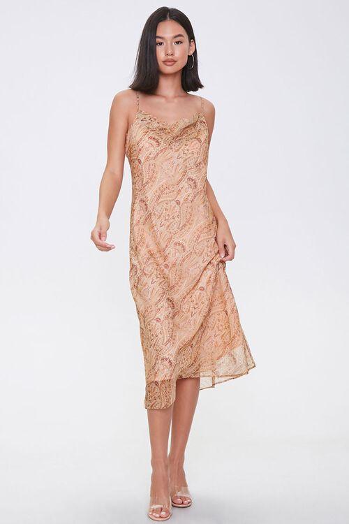 Chiffon Ornate Print Midi Dress, image 4