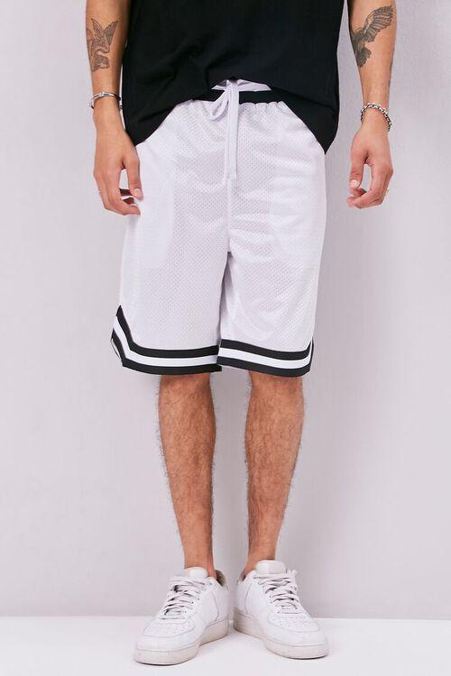 Varsity-Striped Mesh Shorts, image 2