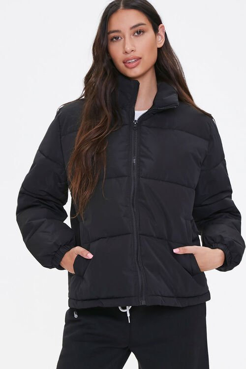 Quilted Puffer Jacket, image 1