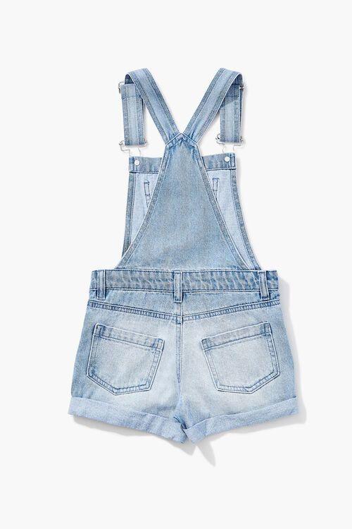 Girls Denim Overall Shorts (Kids), image 2