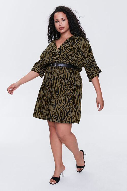 Plus Size Tiger Striped Dress, image 5