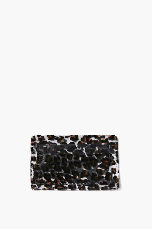 Transparent Leopard Print Wallet, image 1