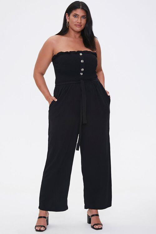 Plus Size Smocked Jumpsuit, image 4