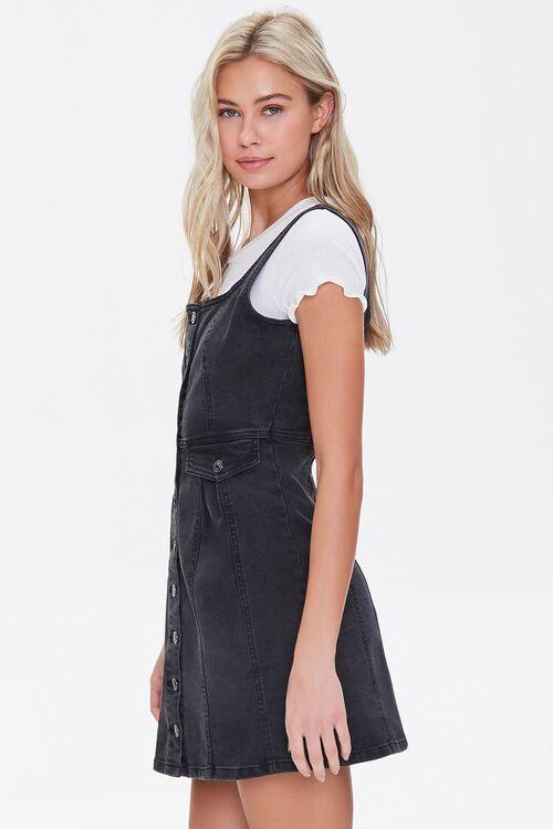 Denim Pinafore Mini Dress, image 2