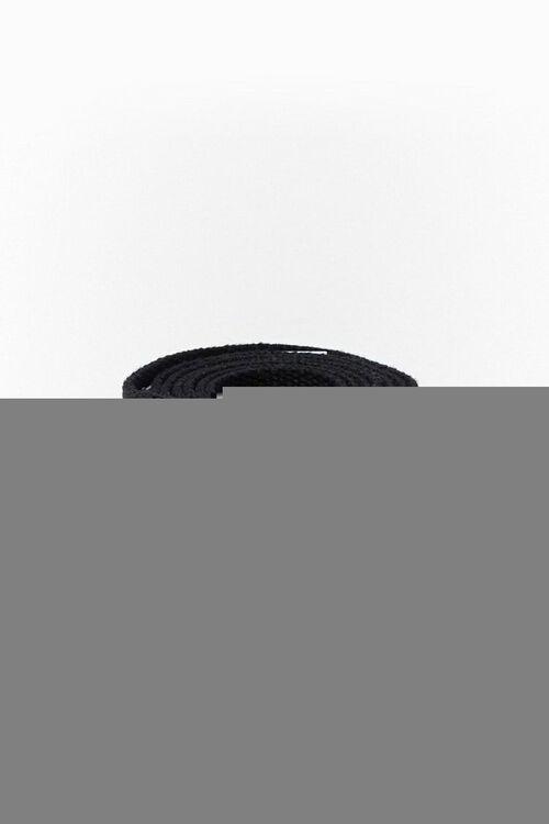 BLACK Square-Buckle Grommet Hip Belt, image 1