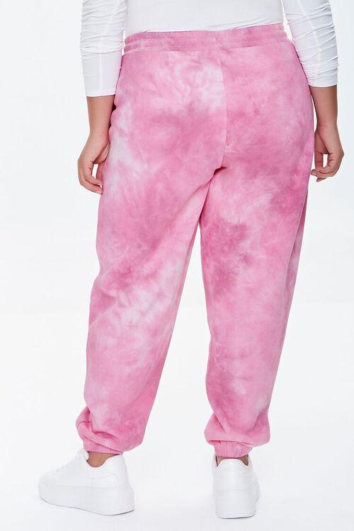 PINK/MULTI Plus Size Tie-Dye Barbie™ Joggers, image 4