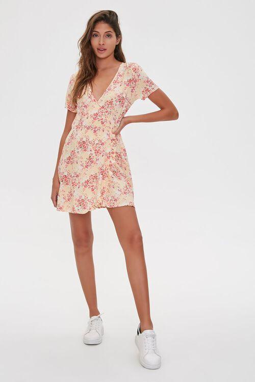 Floral Print Mini Dress, image 4