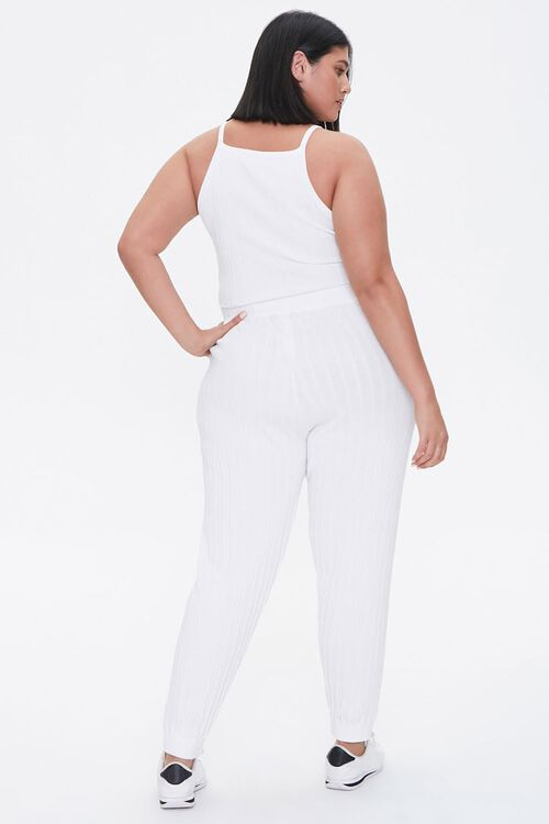 Plus Size Cropped Cami & Ankle Pants Set, image 3