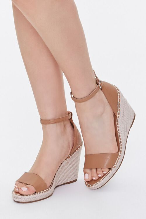 Strappy Espadrille Wedges, image 1